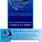 Sea-Wing Designs Deep Blue card