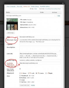 a screen shot of the edit media window.