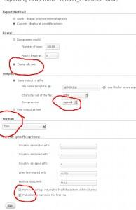phpmyadmin export-selections2