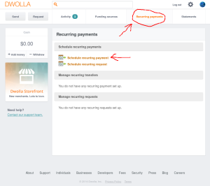 Automatic Payments via Dwolla