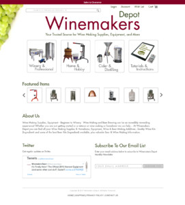 Design for WineMakerDepot.com