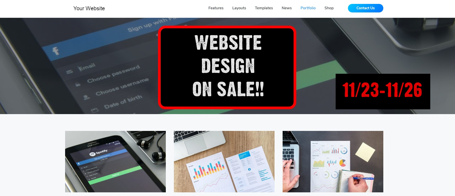 Website Design on sale